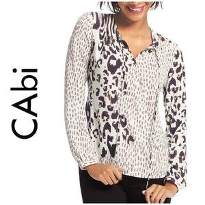 CAbi Leopard Print Blouse